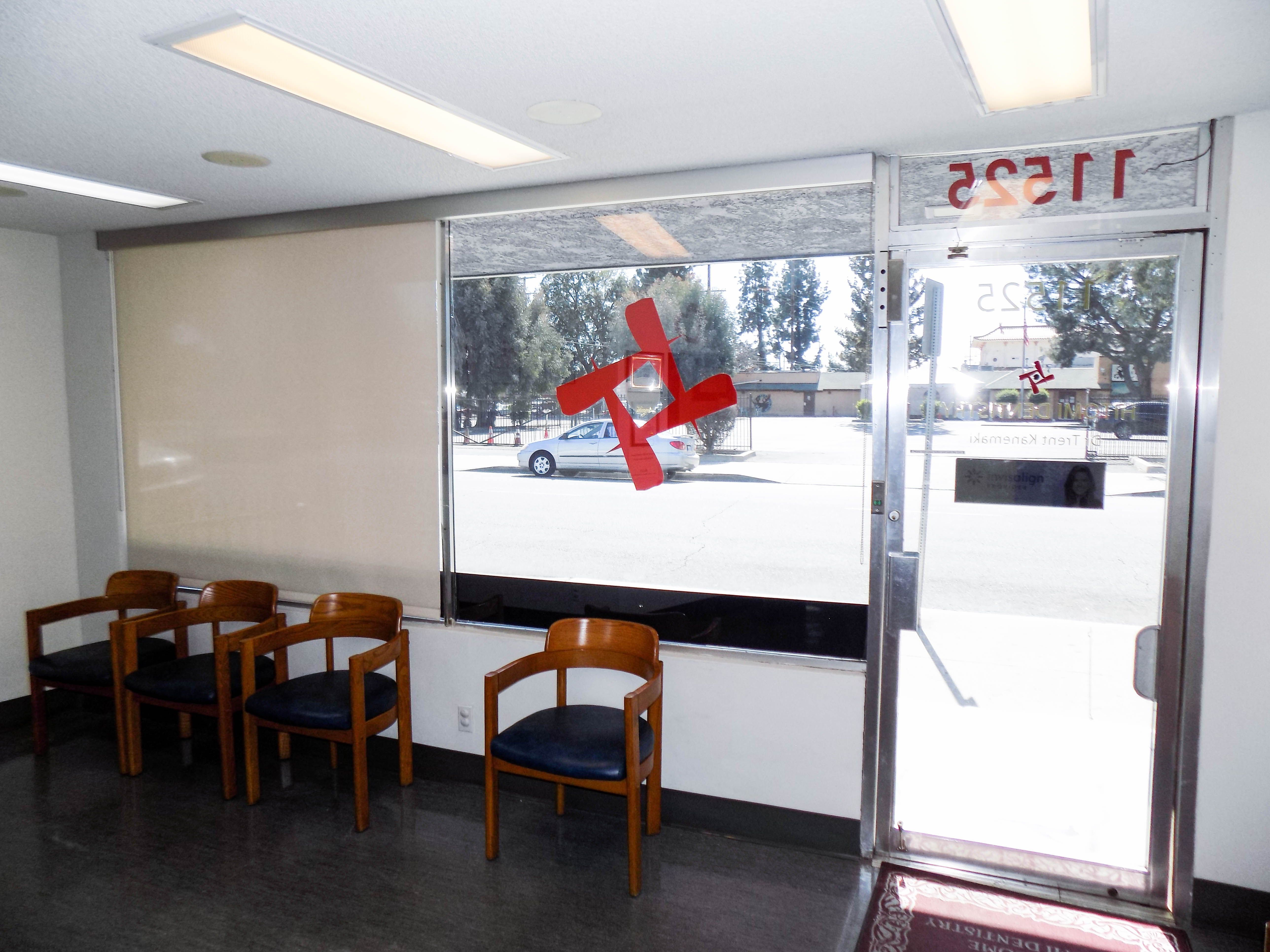 Our team installed indoor roller shades at hitomi dentistry in el