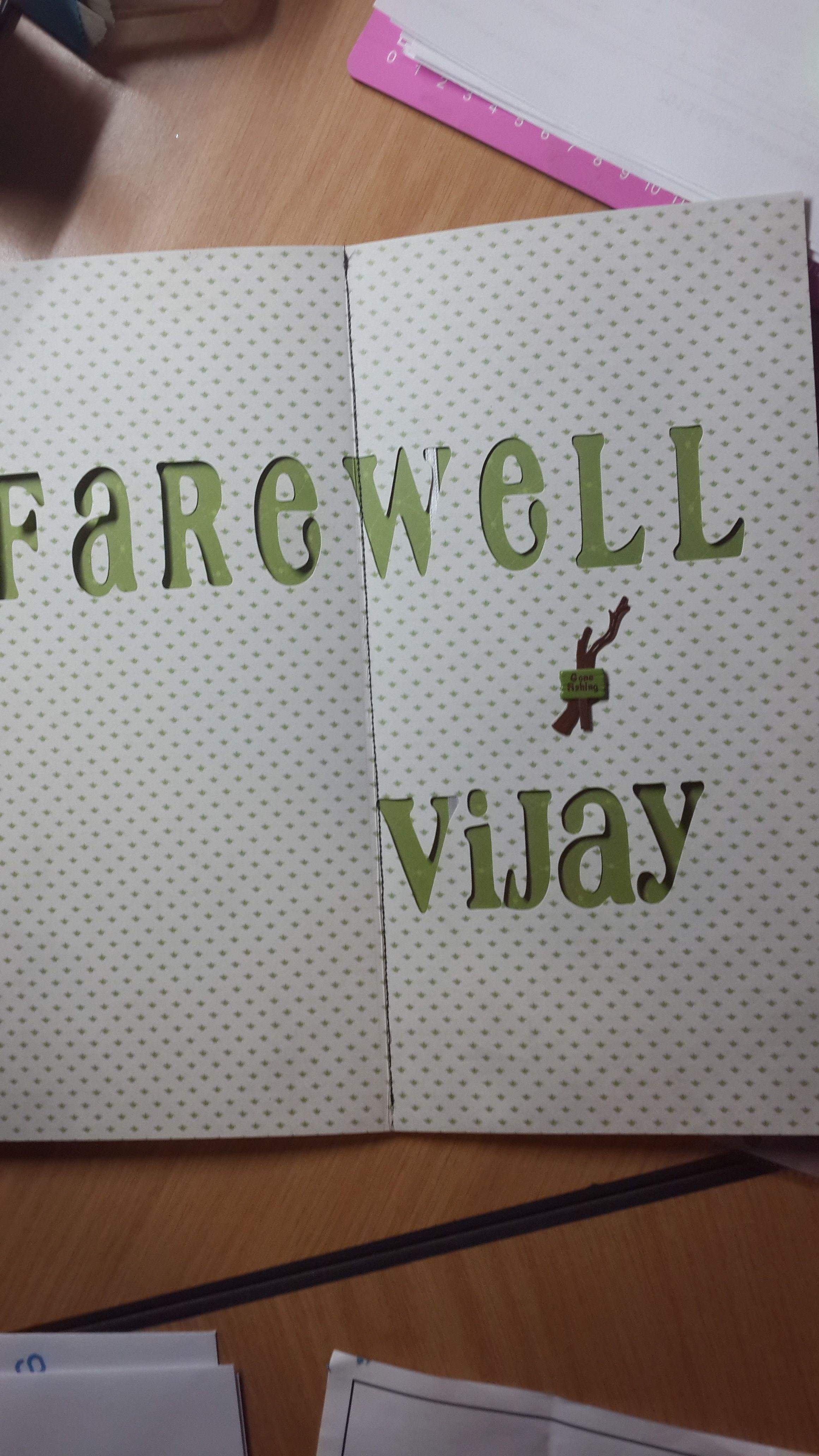 farewell card, part 3. Handmade by Sandi G muzzys ...