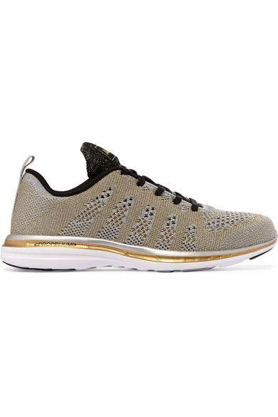 Athletic Propulsion Labs - Techloom Pro Metallic Mesh Sneakers - Gold - US