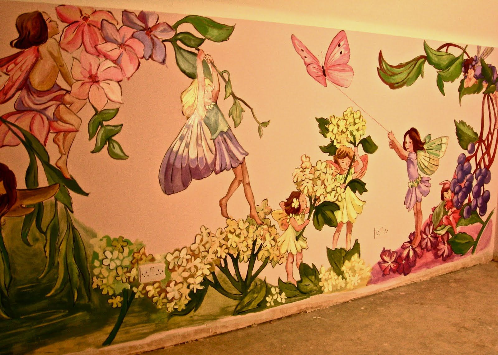 Great design to use magscapes magnetic wallpaper and for Fairy garden mural