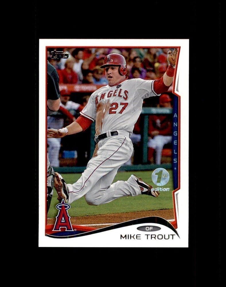 Details About 2014 Topps 103 Cabrera Mauermike Trout 1st