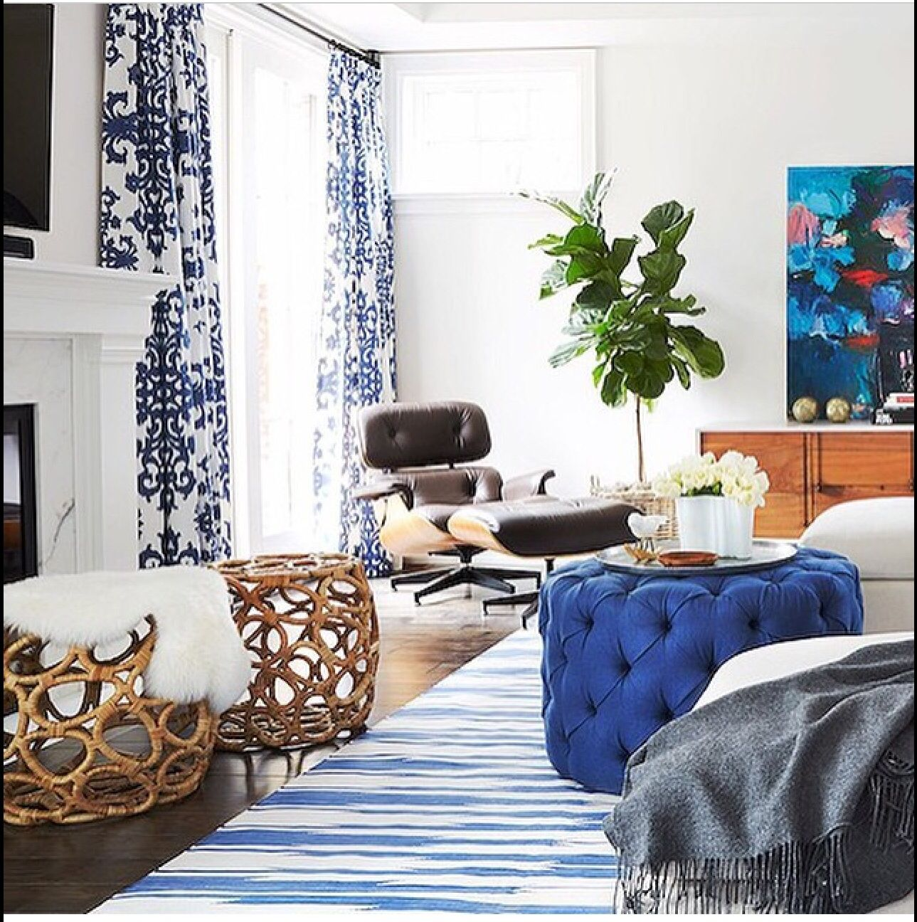 Cool Blue | Home decor | Pinterest | Living rooms, Room and White ...