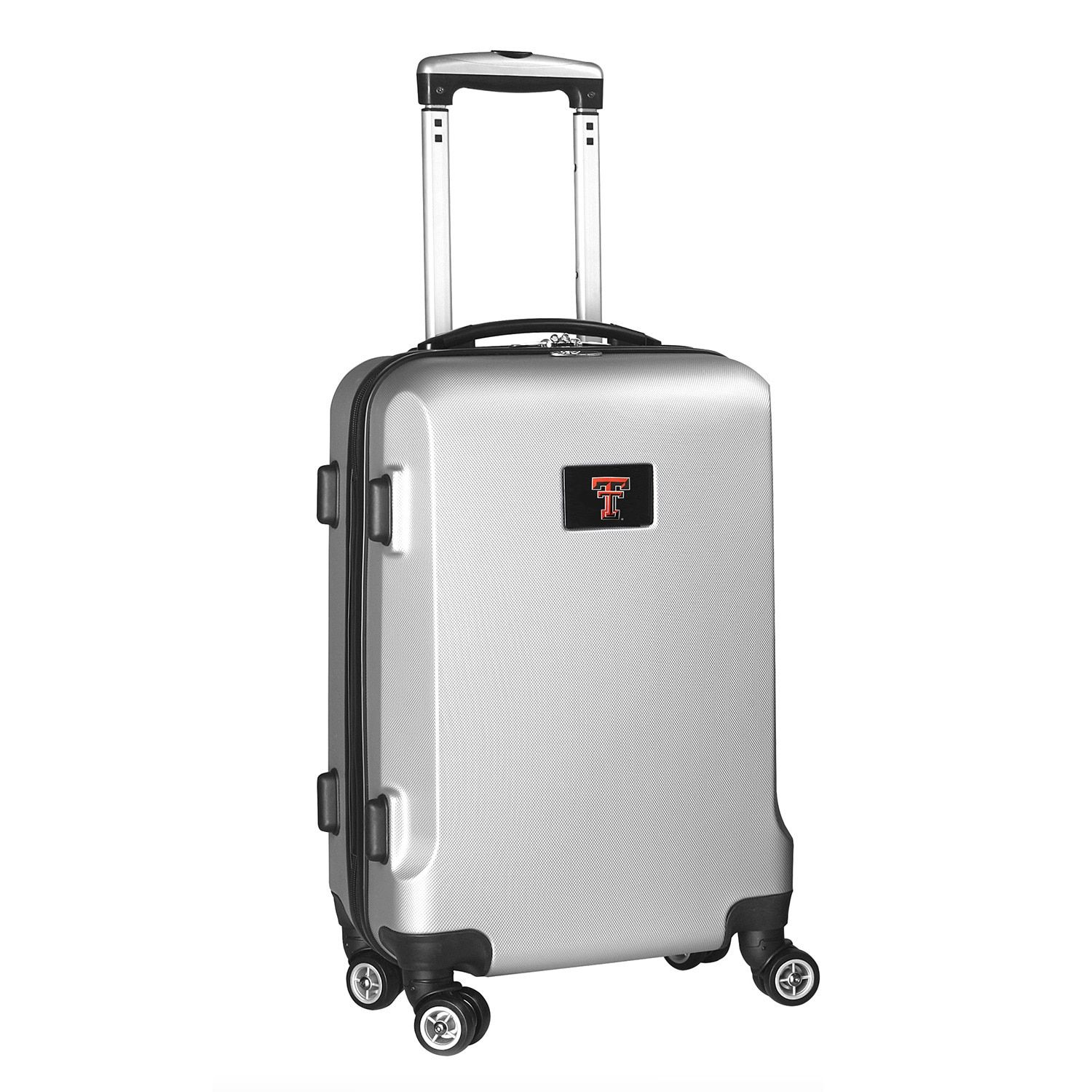 Denco Sports Ncaa Texas Tech Red Raiders 20-inch Hardside Carry-on Spinner Upright Suitcase