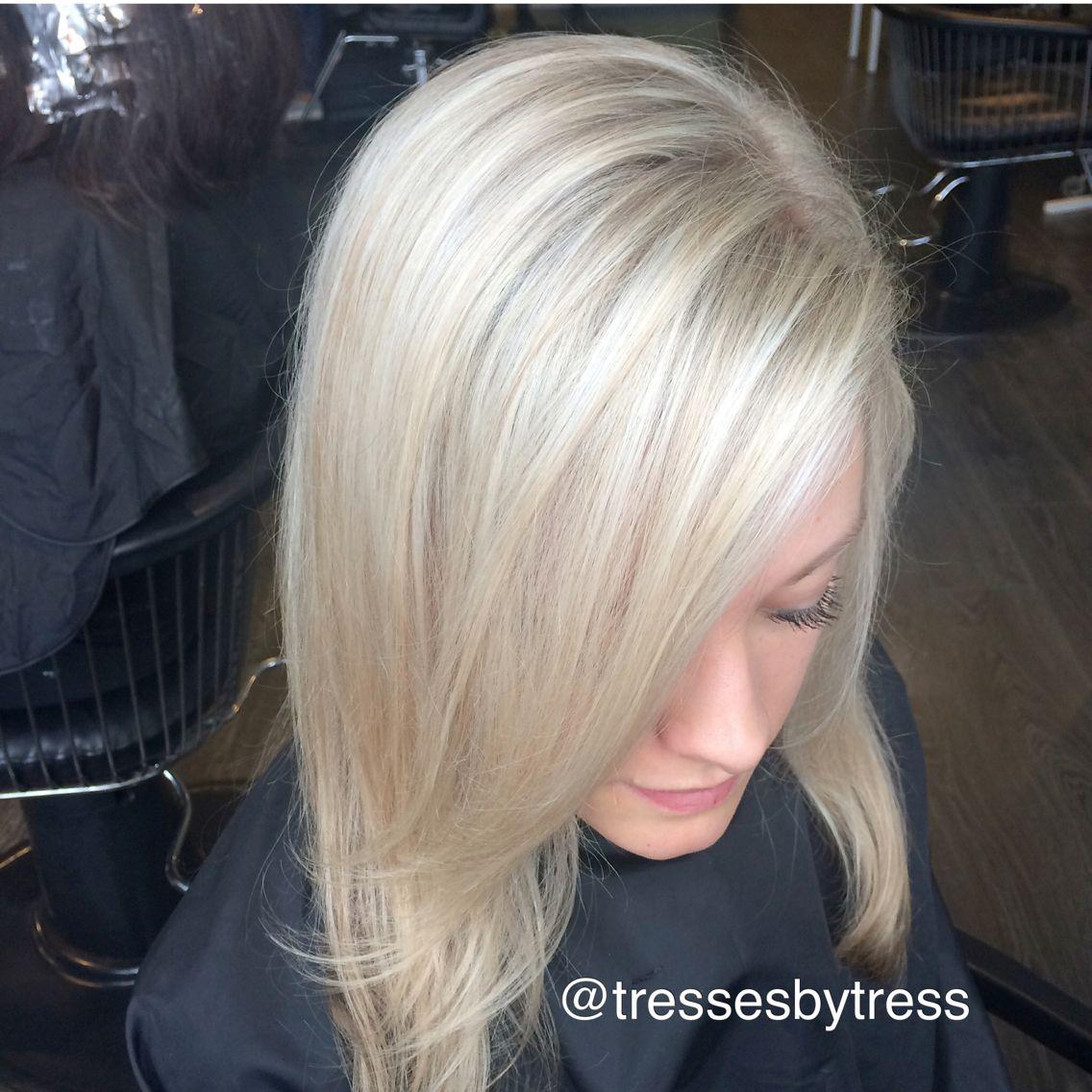 Platinum Elsa blonde hair!
