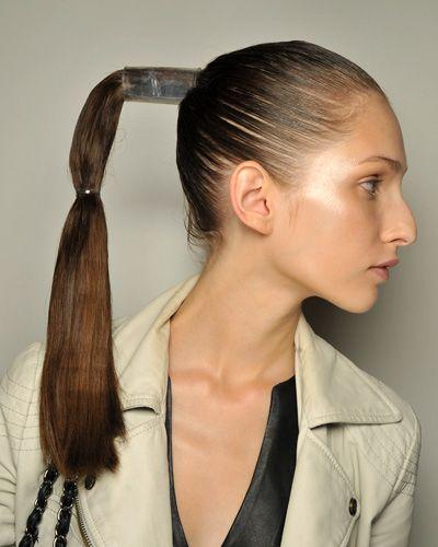 Ponytails Hairstyles miley cyrus long sleek ponytail hairstyle Ponytails Hairstyles And Haircuts 2013