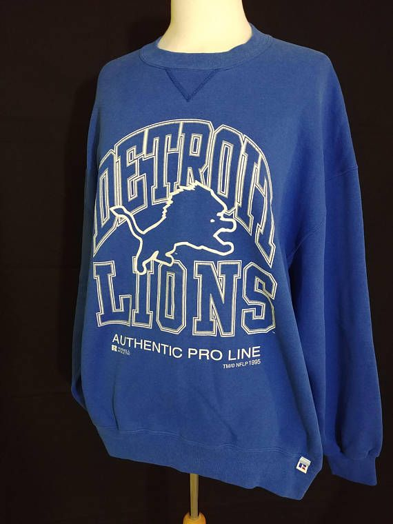 cheap for discount 6650d e663f Vintage XL 1995 Detroit Lions Sweatshirt / Russel Athletics ...