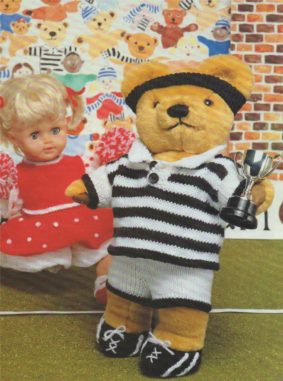 Teddy Bears Rugby Kit and Dolls Cheerleader Clothes Knitting Pattern PDF for 15 - 19 inch Teddy and 12 - 22 inch Doll, DK Yarn, Download #18inchcheerleaderclothes Teddy Bear and Dolls Clothes PDF Knitting Pattern . Ted Rugby Kit and Doll Cheerleader Outfit . DK . 15 - 19 inch Teddy . 12 - 22 inch Doll by PDFKnittingCrochet on Etsy #18inchcheerleaderclothes Teddy Bears Rugby Kit and Dolls Cheerleader Clothes Knitting Pattern PDF for 15 - 19 inch Teddy and 12 - 22 inch Doll, DK Yarn, Download #18i #18inchcheerleaderclothes