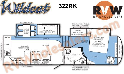 2012 Wildcat 322rk Fifth Wheel By Forest River Stock 026477 Inventory The Original Rvwholesalers Rv Floor Plans