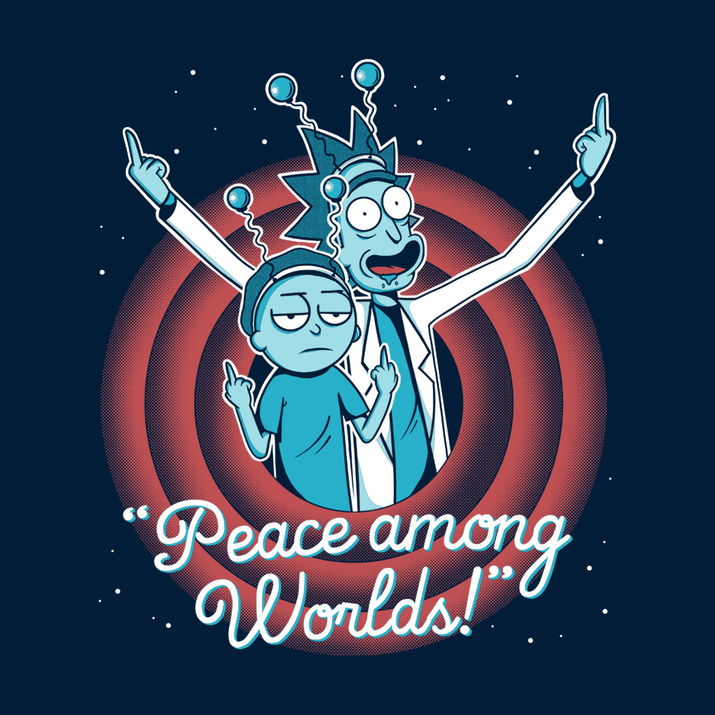 Peace Among Worlds From Teetee Rick And Morty Poster