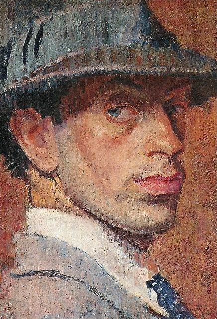 Self-Portrait , 1915, by Isaac Rosenberg (English, 1890 - 1918)