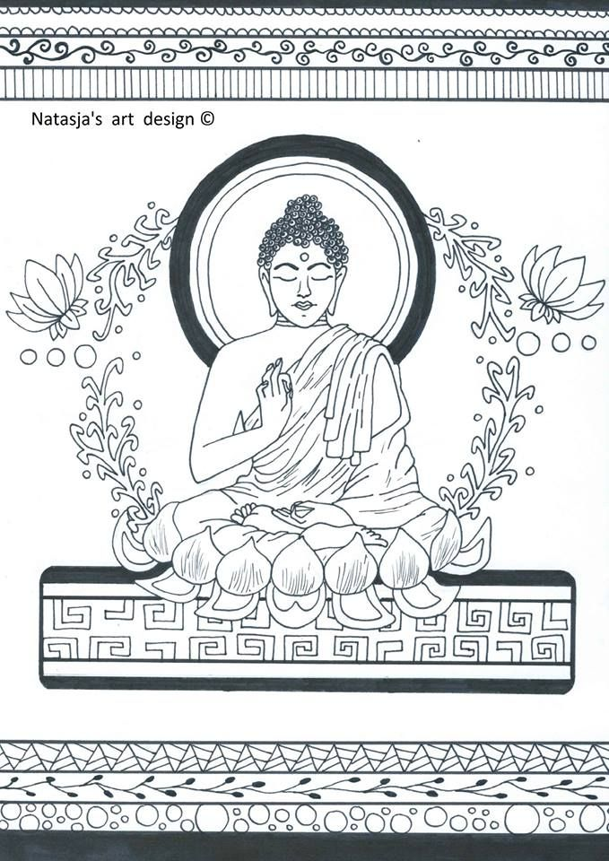 Boeddha | Coloring pages to print - India | Pinterest | Buddha ...