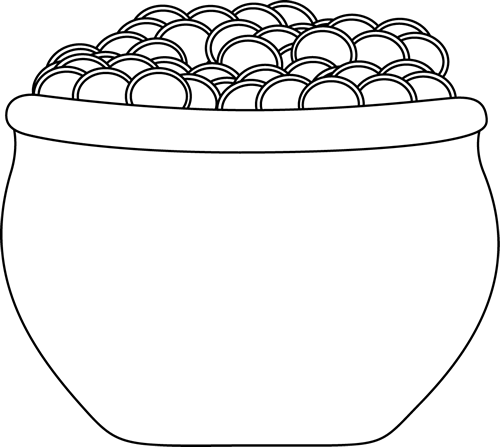 Black And White Pot Of Gold Clip Art Black And White Pot Of Gold Image Gold Clipart Pot Of Gold Pot Of Gold Image