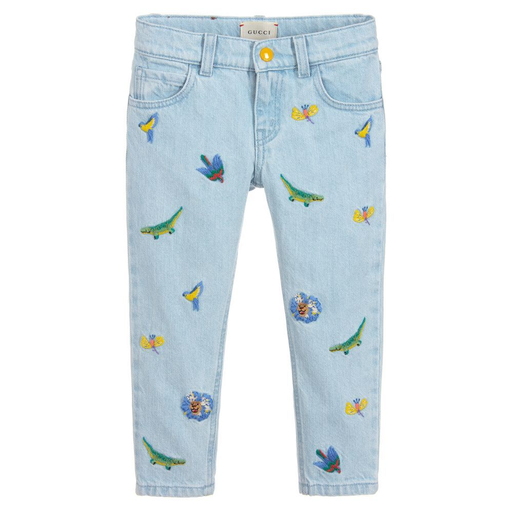 660541e0a Girls Blue Embroidered Jeans | L&C Reveal New 2 | Embroidered jeans ...