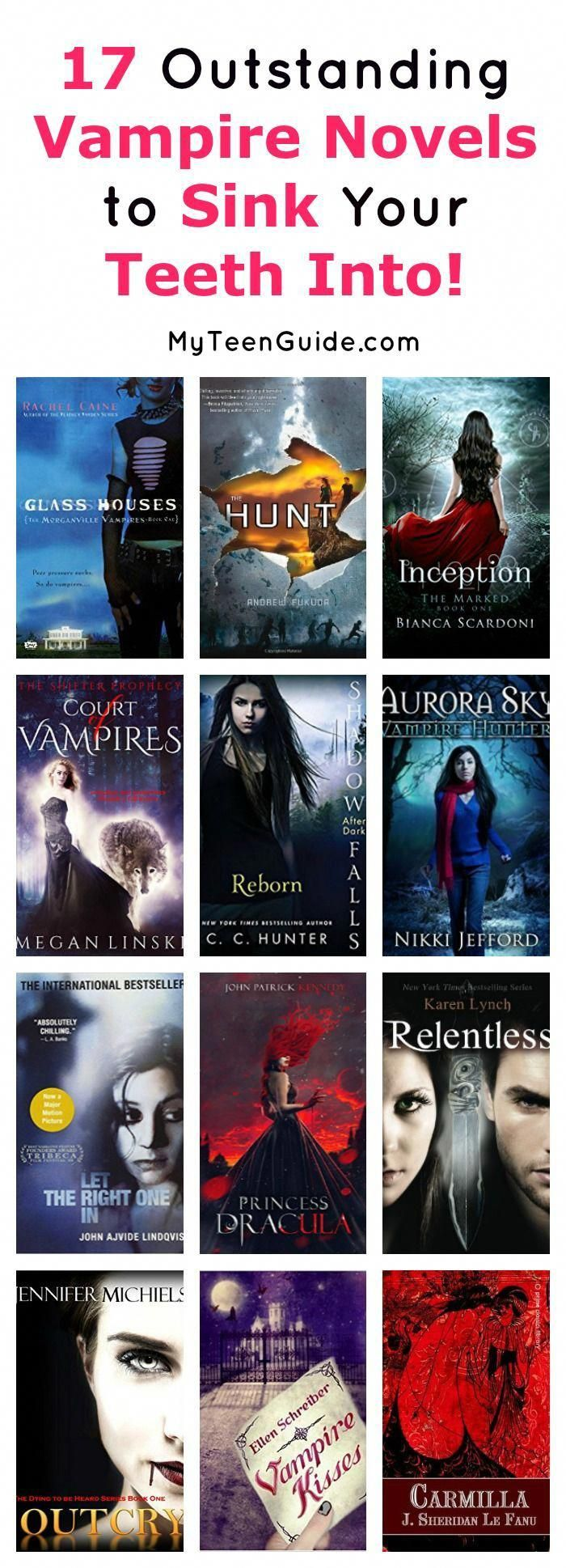 17 Outstanding Vampire Novels That You'll Love Sinking Your Teeth Into #bookstoread