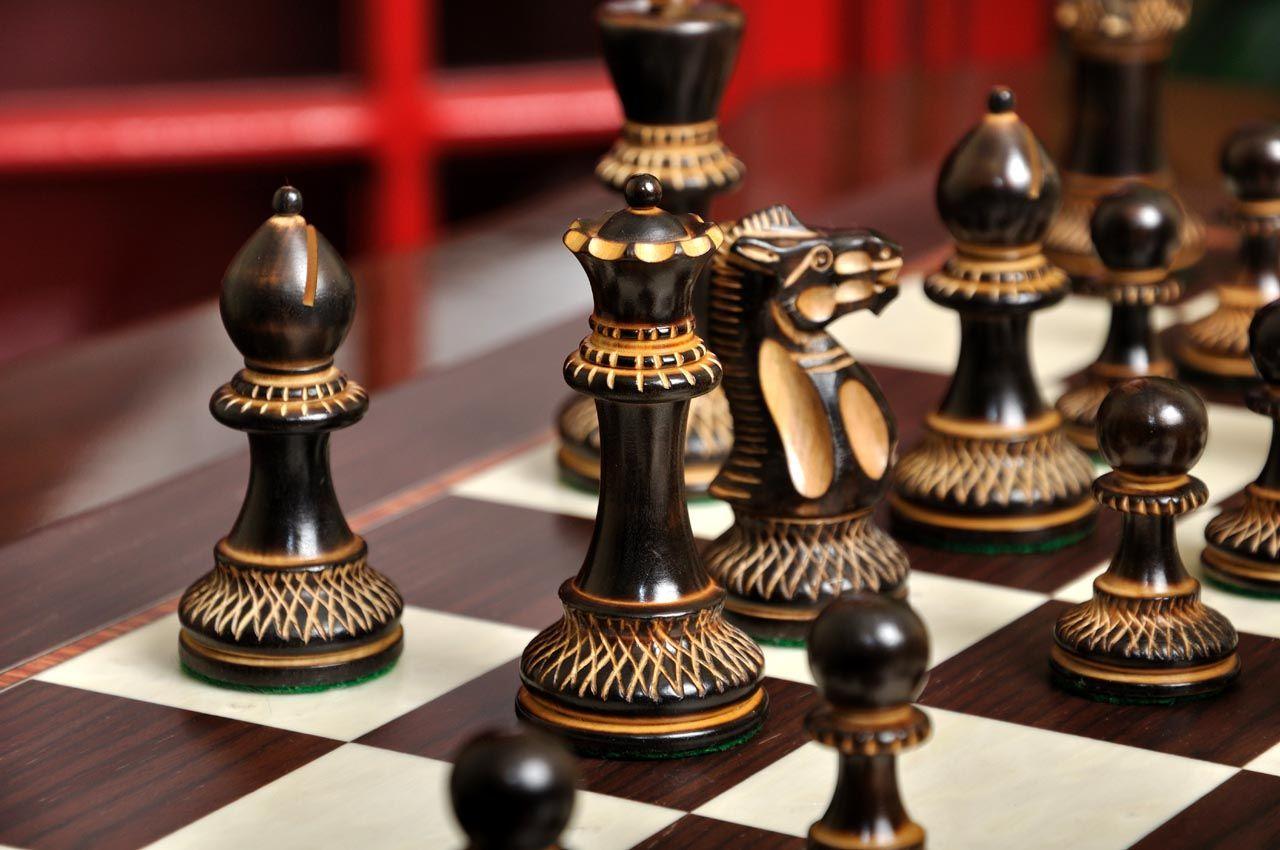The Burnt Grandmaster Series Chess Set Chess set unique