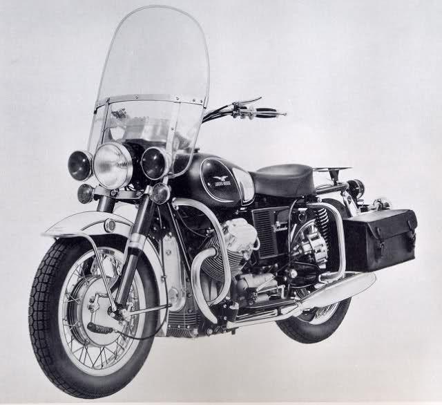 Moto Guzzi California monoposto per forze di polizia, anni 60 circa