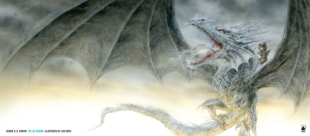 Here is the Cover for George R.R. Martin's Re-release of His Kids' Book, The Ice Dragon - W.B.