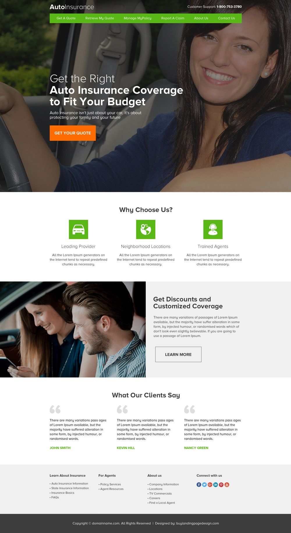 Auto Insurance Html Website Template To Create Your Auto Insurance