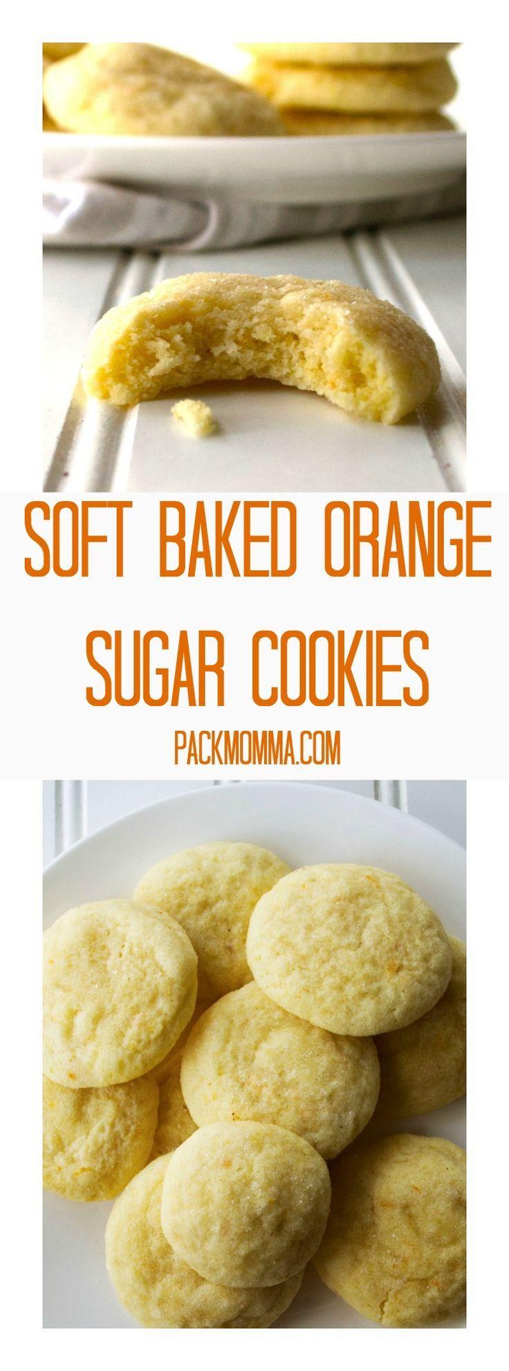 Soft Baked Orange Sugar Cookies   Pack Momma