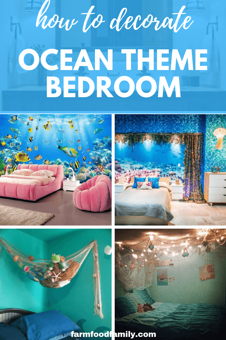 25 Ocean Themed Bedroom Ideas How To Design An Beach Bedroom Mermaidbedroom Little Girls Love M Ocean Decor Bedroom Ocean Themed Bedroom Beach Themed Bedroom