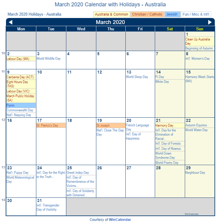 Full List Of March Holidays 2020 Calendar With Festival Dates Country Wise March Holidays Festival Dates Holiday