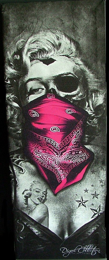 Day of the dead canvas art marilyn monroe size by for Marilyn monroe tattoo canvas