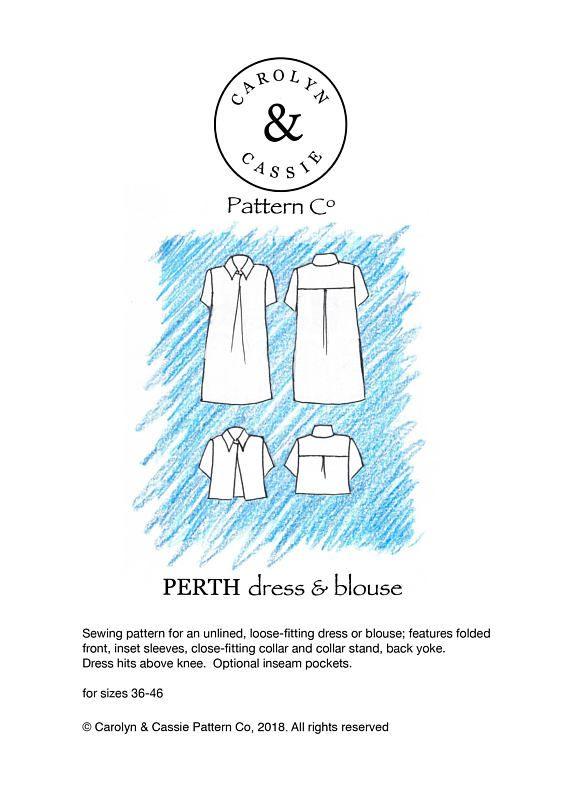 Perth dress/blouse pdf sewing pattern | ClothingLove | Pinterest ...