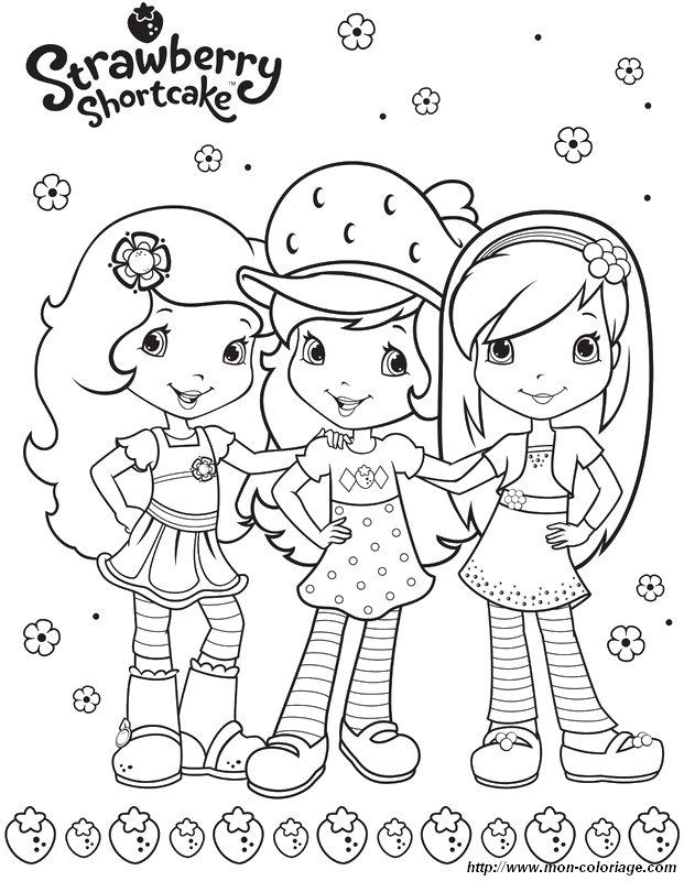 Coloriage charlotte aux fraises et ses amies imprimer colorier dessin imprimer - Image de violetta et ses amies ...