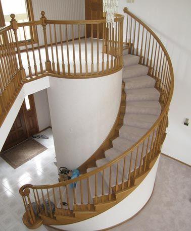Best Custom Circular Oak Staircase Stairwell Ideas 400 x 300