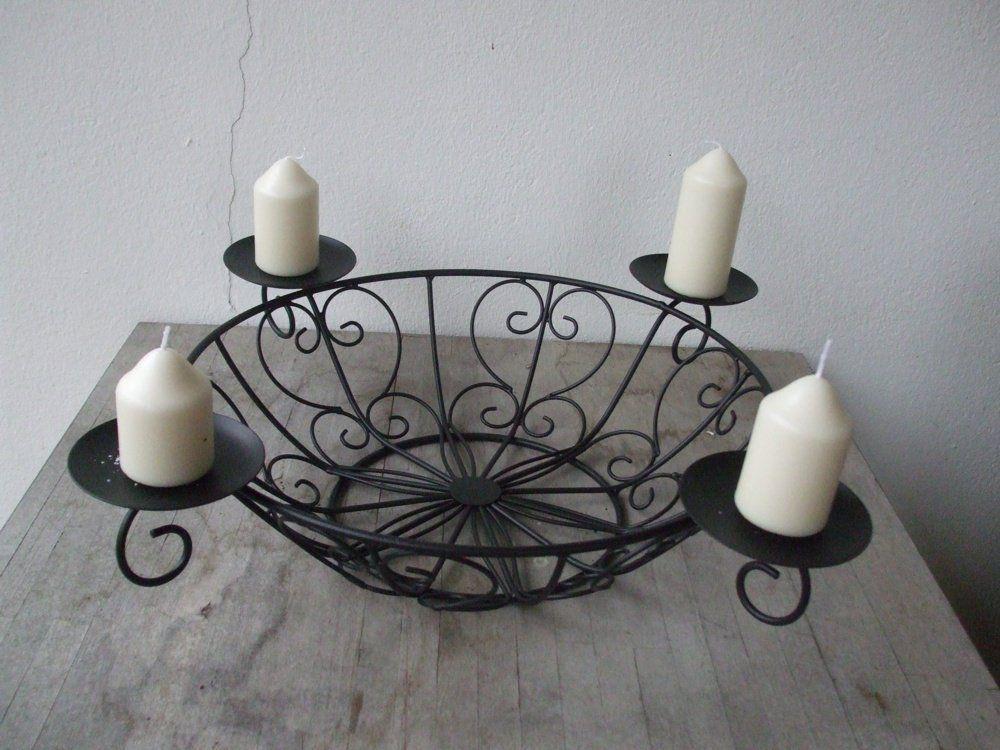 Sch ner mesa soporte para velas dise o de candelabro cesta corona de adviento - Soporte para velas ...