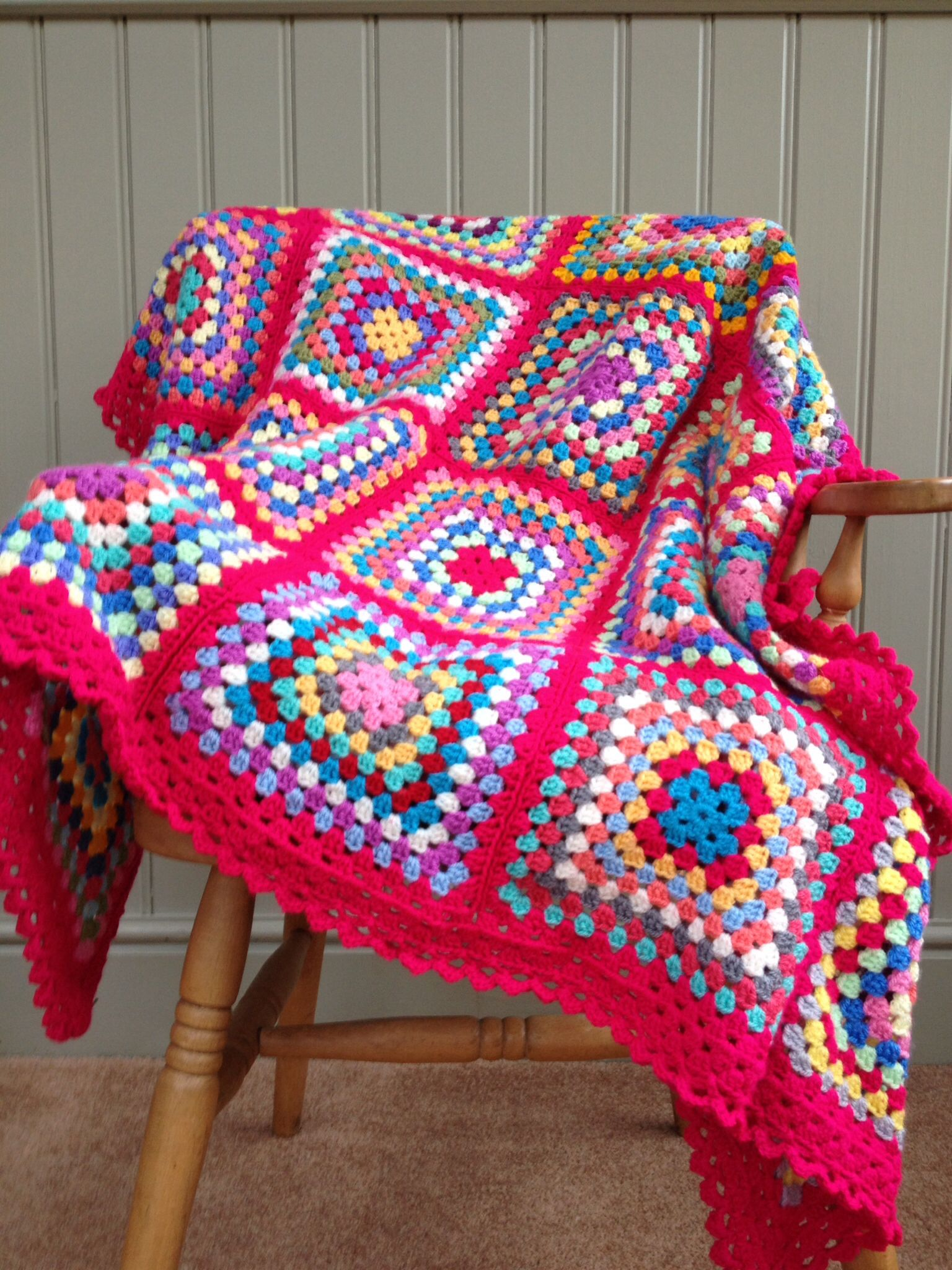 I Made A Crochet Blanket For Joanna S New Home Edging Instructions From Attic 24 Jenny Hubbard Cobertores De Croche Trico E Croche Mantas De La