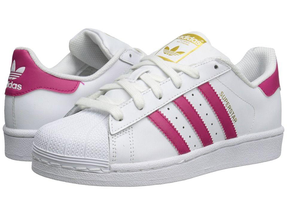 meet 2b00f 0c401 adidas Superstar (Big Kid) Originals Kids Girls Shoes WhiteBold PinkWhite