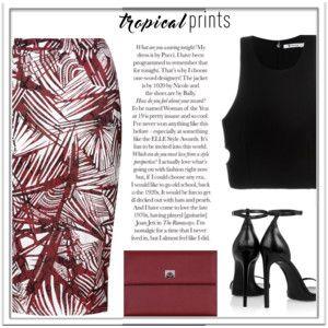 Tropical Print Skirt #153