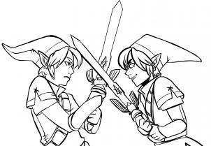 How To Draw Link Vs Dark Link Legend Of Zelda Step 19 Art