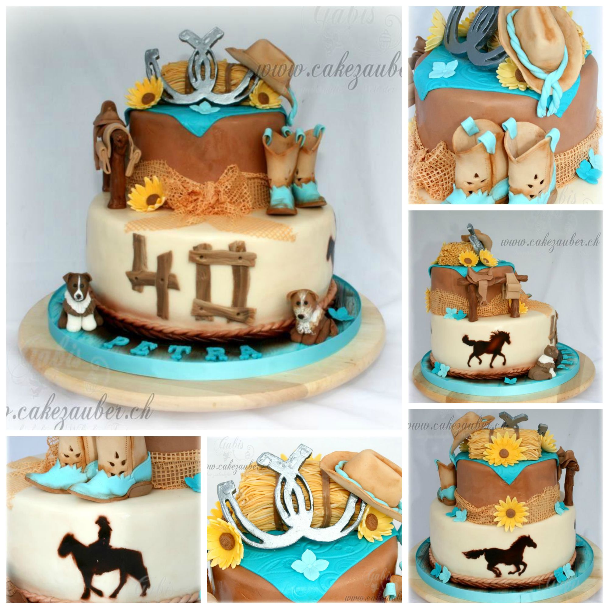 Swell Womans Country Western Cake Western Birthday Cakes 40Th Funny Birthday Cards Online Barepcheapnameinfo