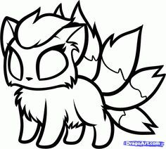 I Think It S A Nine Tails Hibrid Pokemon Coloring Pages Pokemon Coloring Fox Coloring Page