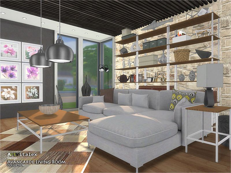 Avangarde Living Room Found In TSR Category U0027Sims 4 Living Room Setsu0027