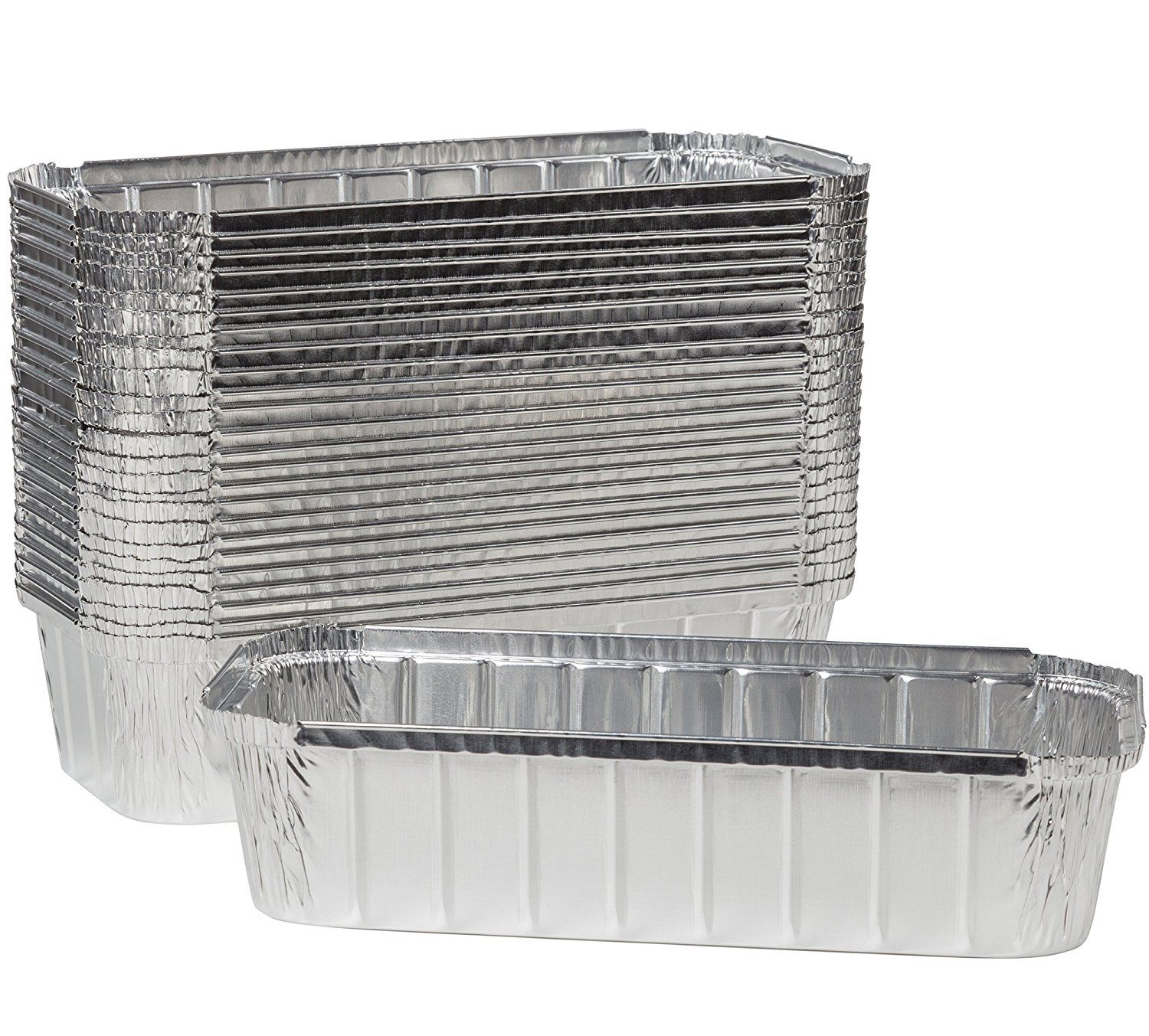 Paksh Disposable Aluminum Loaf Pans Pack Of 50 Bread Tin