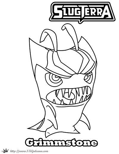 Free Halloween Coloring Page Featuring Grimmstone from Slugterra ...