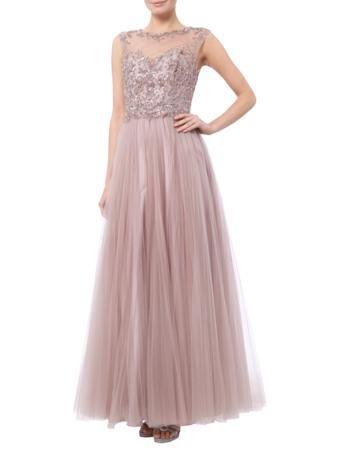 76801a34bf94 LUXUAR Abendkleid mit Zierperlen- und Paillettenbesatz in Altrosa   FASHION  ID Online Shop