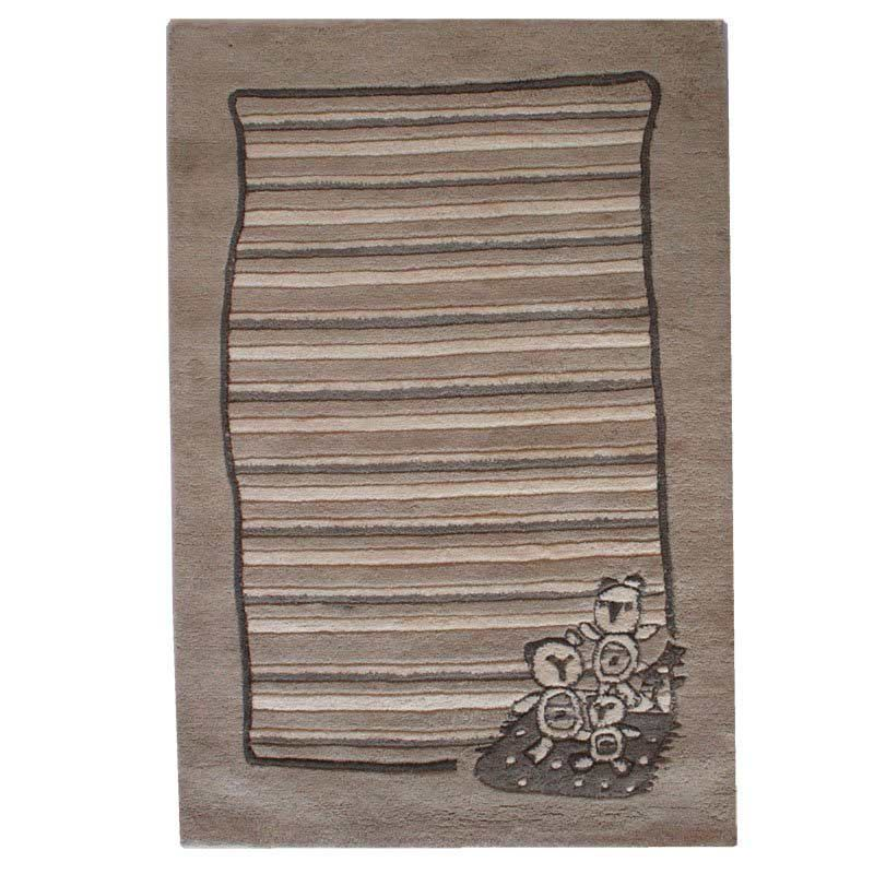 Wool Kids Rug With Teddy Bear Design Ideal For Nursery Baby Room Or Playroom
