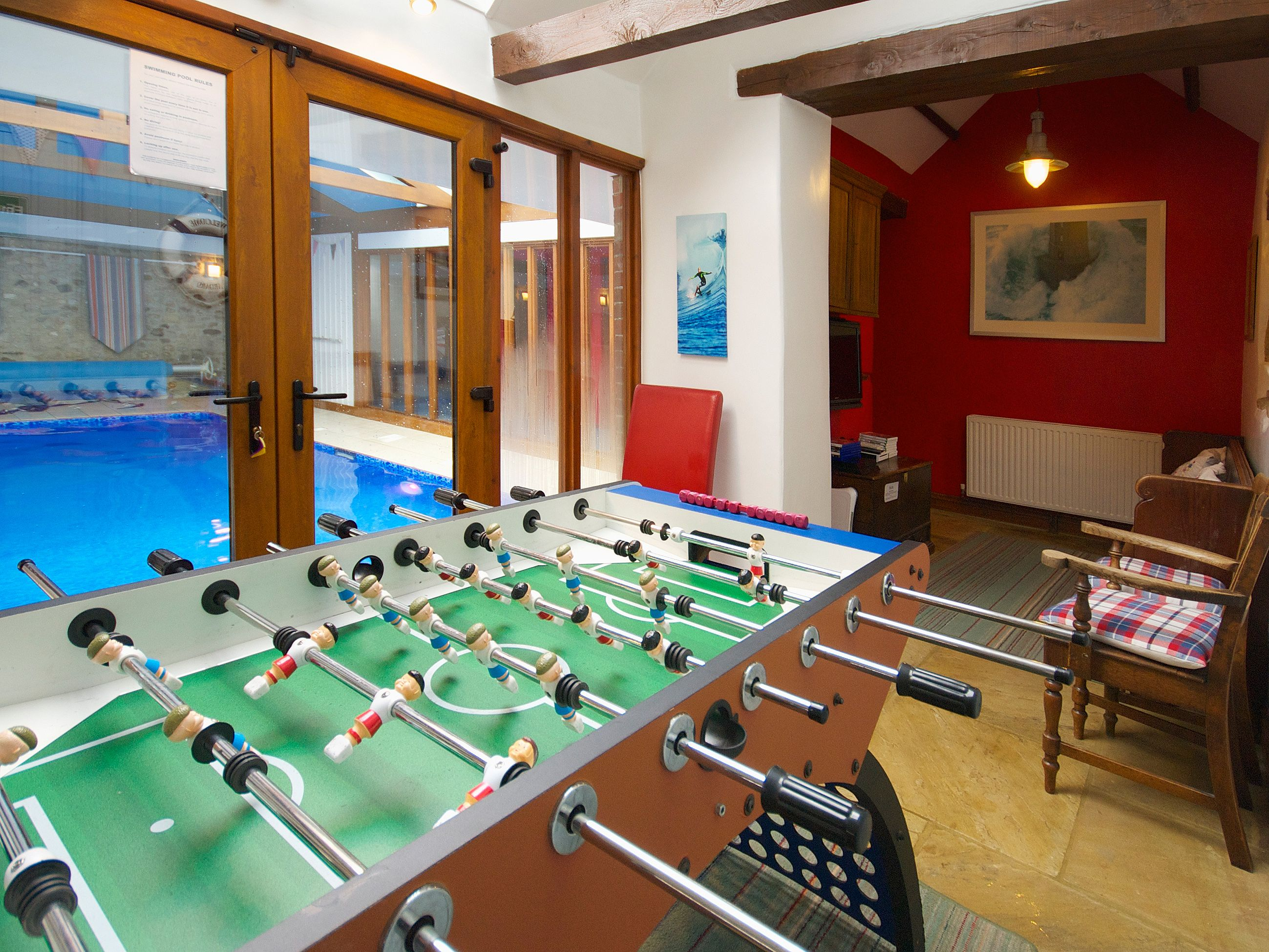 With Use Of A Superb Indoor Heated Swimming Pool And Games Room This  Spacious Property Is Ideal For A Family Holiday.