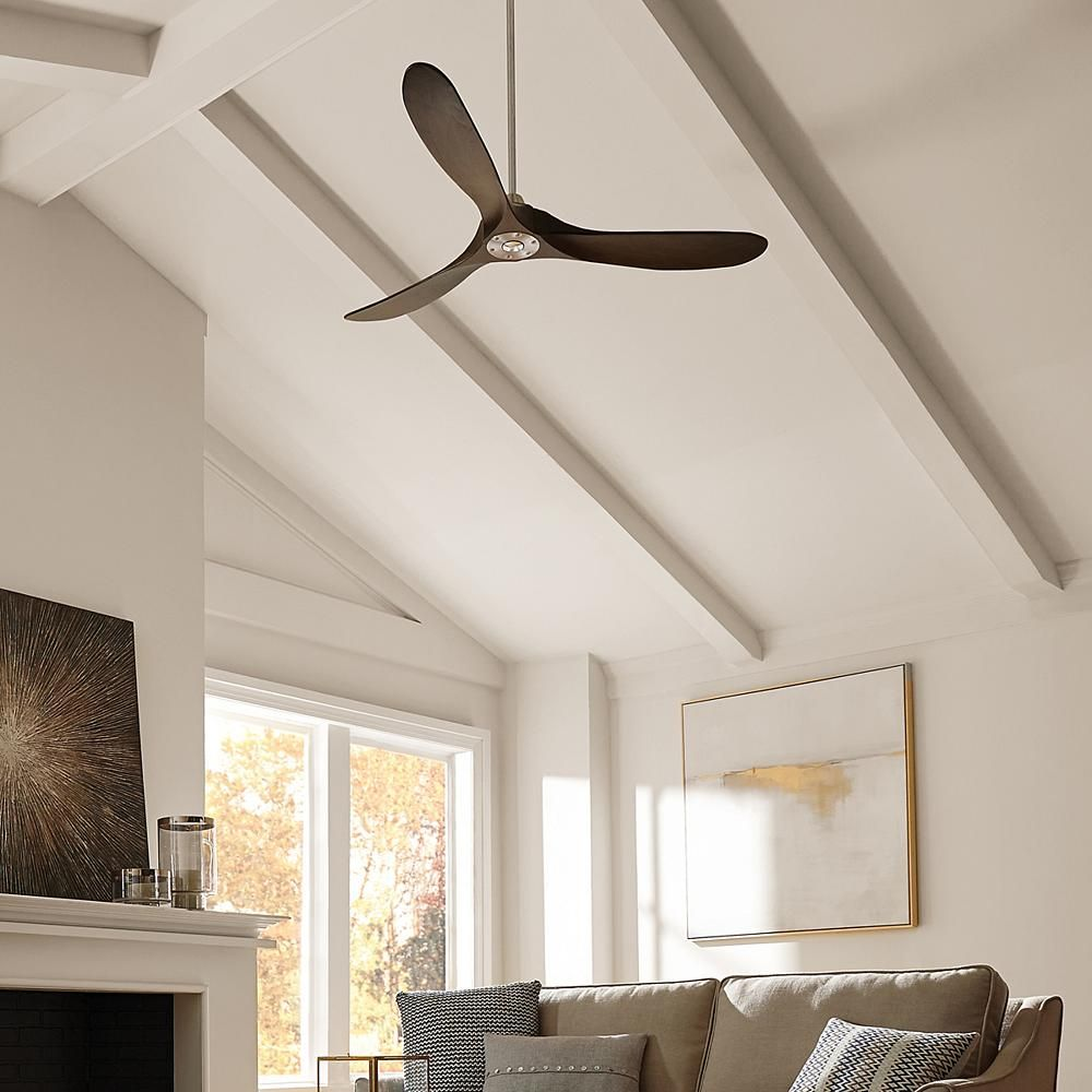 Fan Fundamentals During The Summer Run Your Fan S Blades Counter Clockwise To Blow Air Downward And Cre Living Room Ceiling Fan Ceiling Fan Black Ceiling Fan