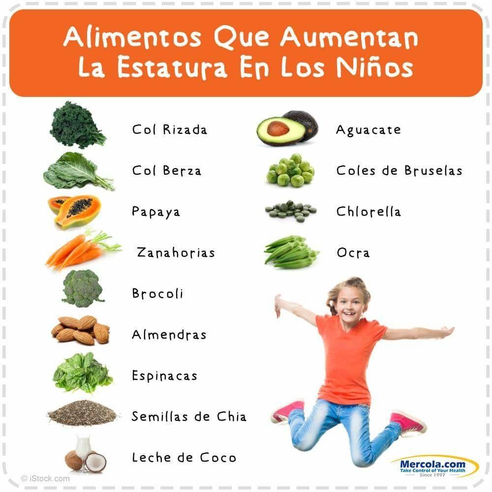 Alimentos Que Aumentan La Estatura De Los Niños Alimentos Para Crecer Alimentos Para Subir De Peso Como Crecer De Estatura
