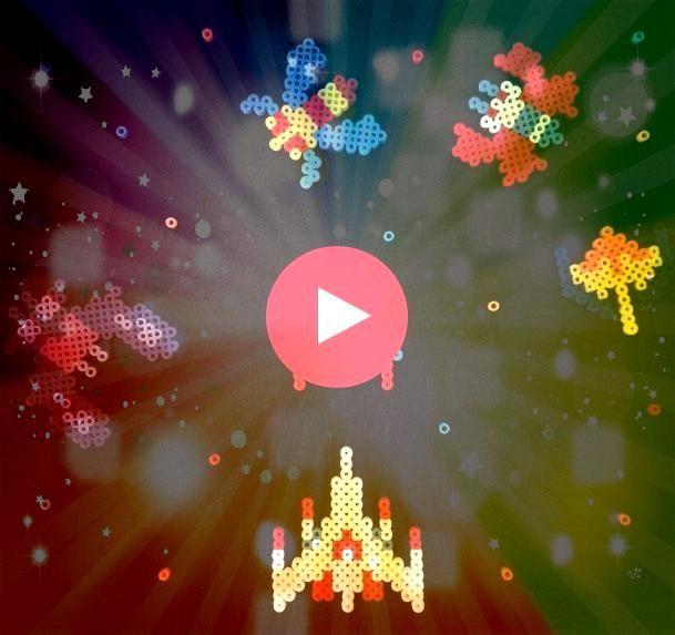 arcade game perler beads by leonelprezGalaga arcade game perler beads by leonelprez How to make patriotic shoes with chalk paint Easy 4th of July project to show off your...
