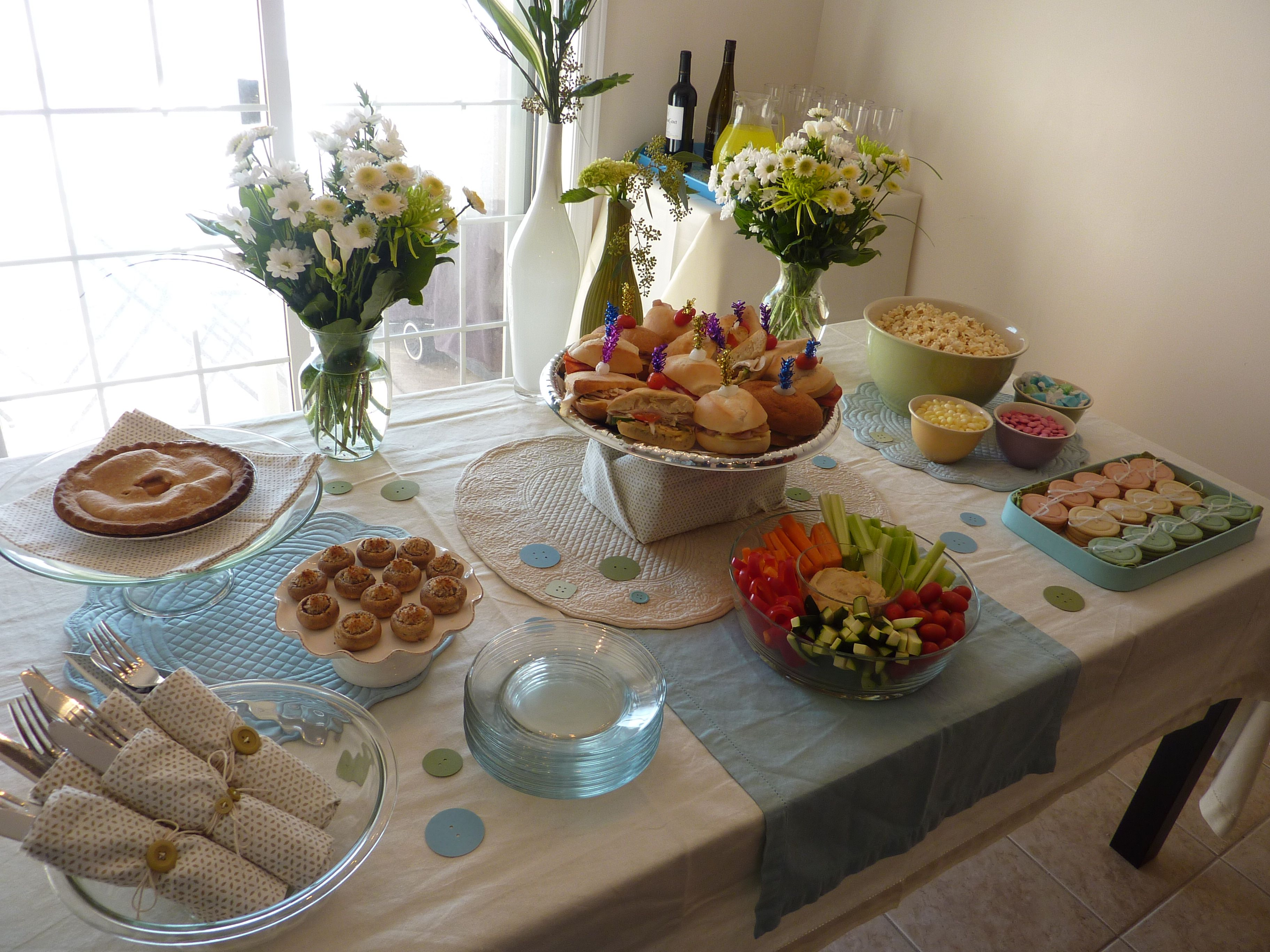 How To Host A Fake Baby Shower Baby Shower Buffet Menu And Food Ideas - Round table buffet menu