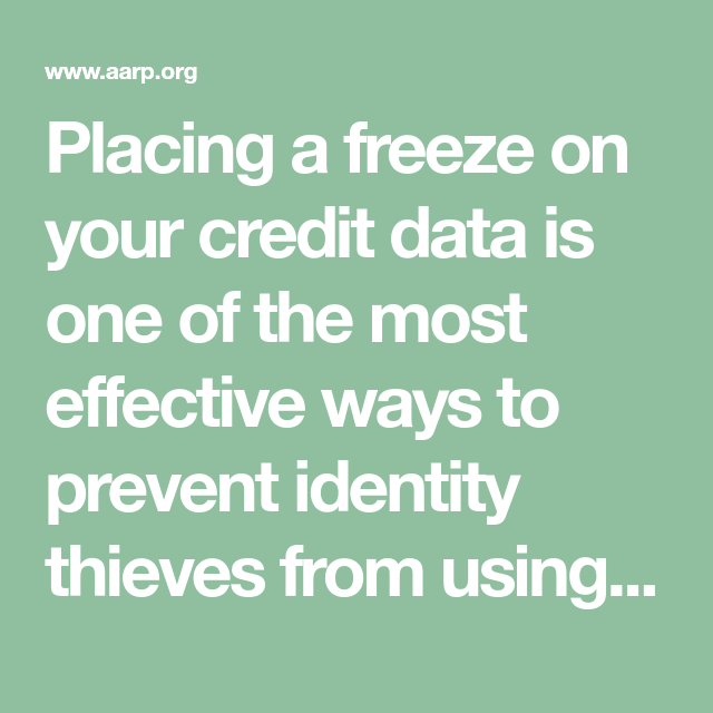 Prevent Identity Theft By Freezing Your Credit