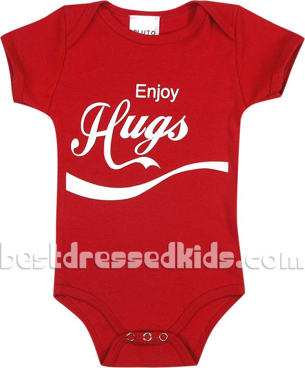 Newborn-Infant Enjoy Hugs Onesie. Refreshing and classic. Would be sooo cute celebrating at the July 4th picnic!