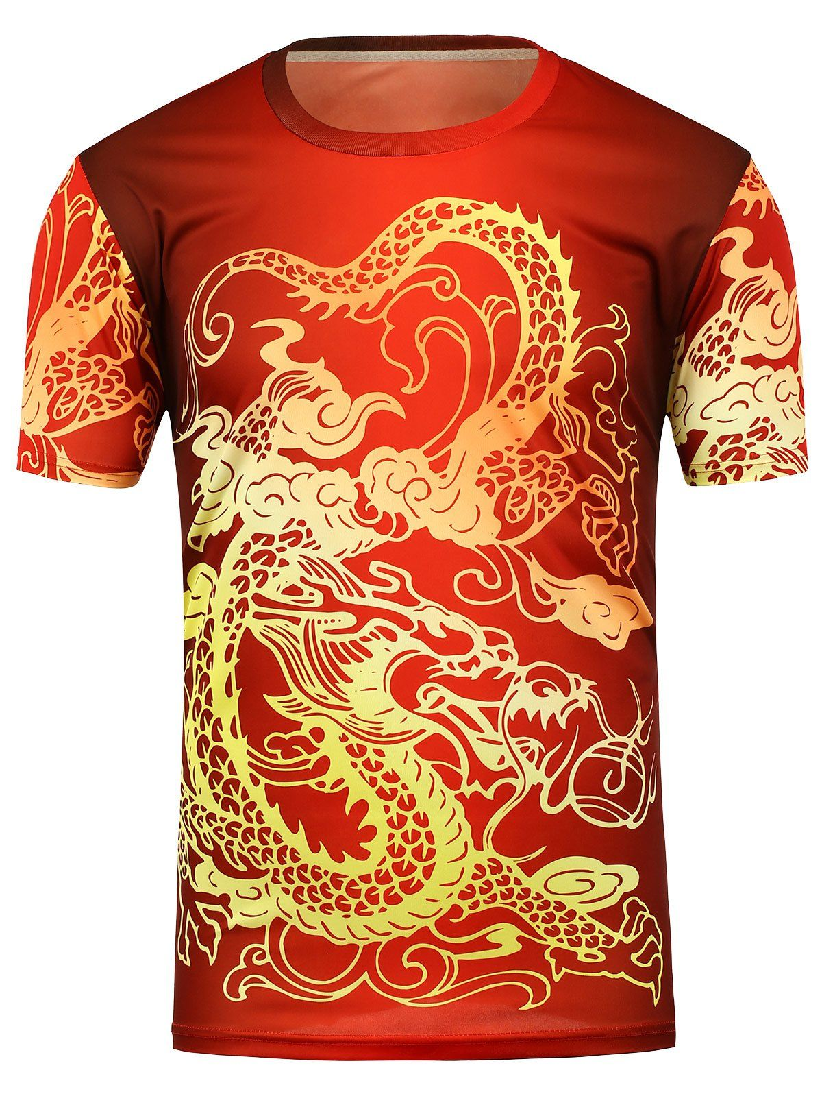 8c614631b2d Dragon Print Short Sleeve T-Shirt