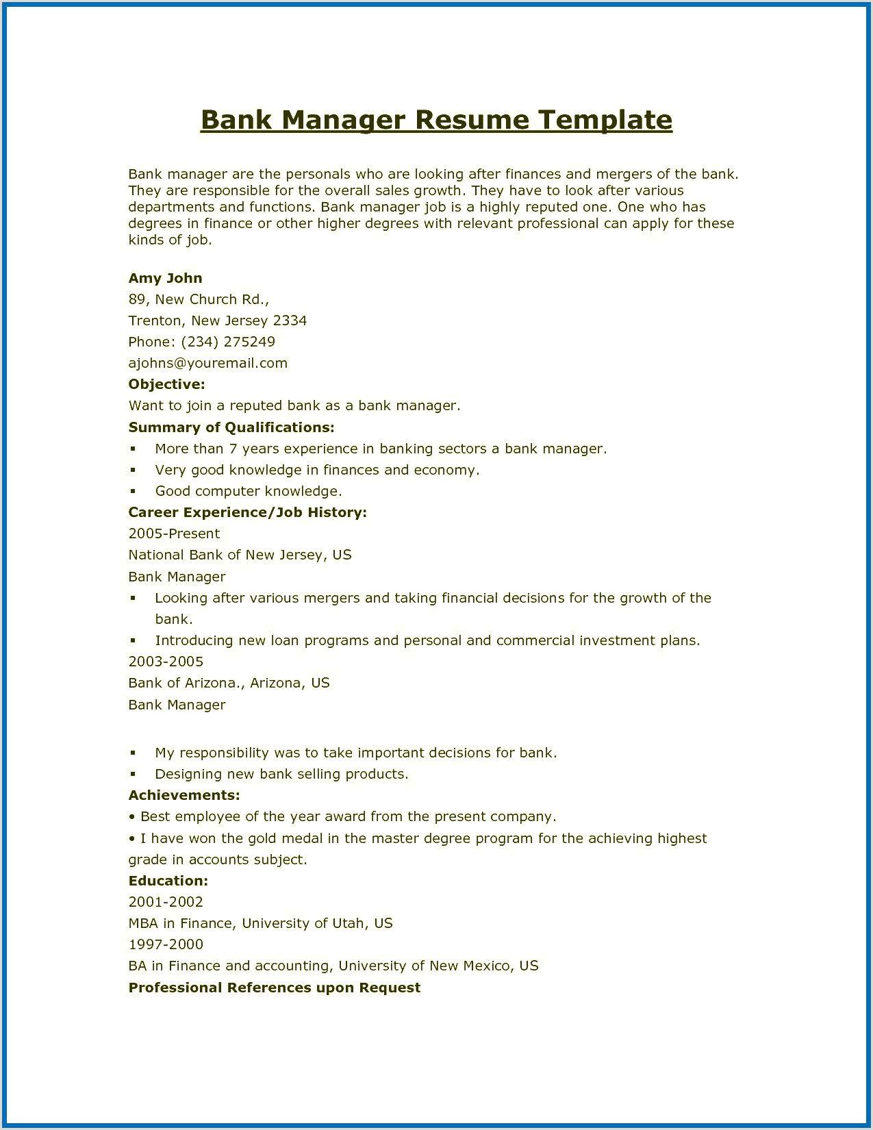 Fresher Resume format Download Pdf in 2020 Resume format